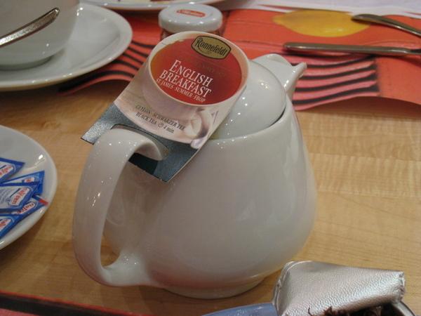 今天的早餐飲料選了英式早餐茶
