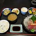 千松谷的生魚片定食