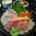 新鮮的生魚片