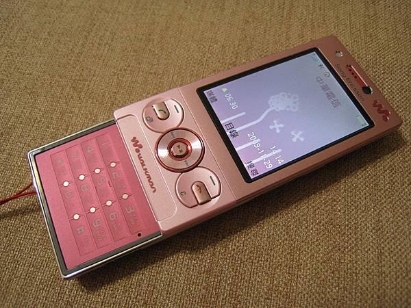 按鍵也是Pink的,整個很粉!