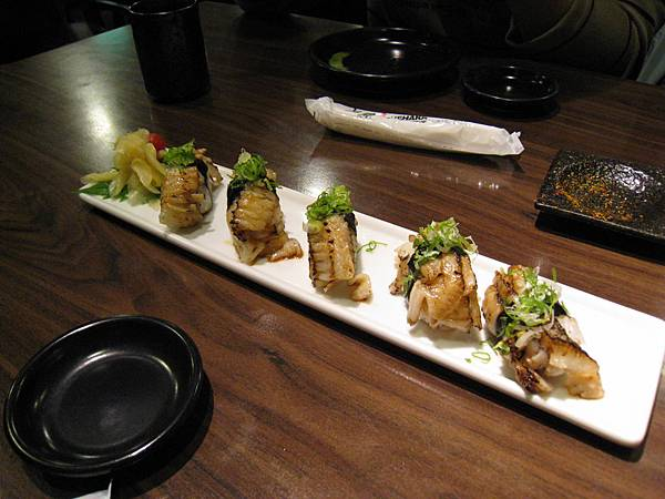烤鰈魚握壽司