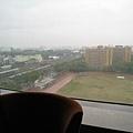 很大的觀景窗,可惜天氣不好