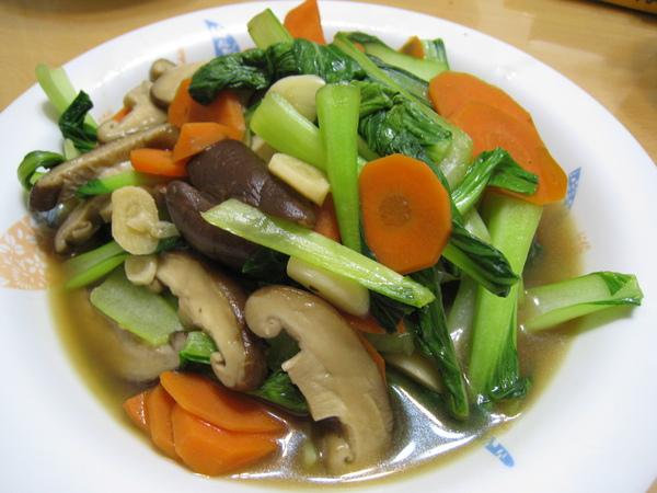 蠔油炒青江菜2
