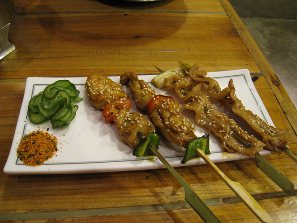 豬肉串及雞肉串
