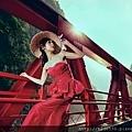 紅禮服造型