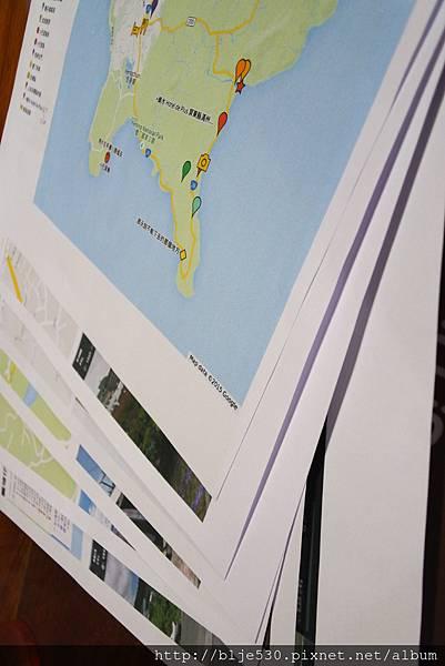 勘景前作業 地圖跟景點細項 都是攝影團隊精心做功課的唷