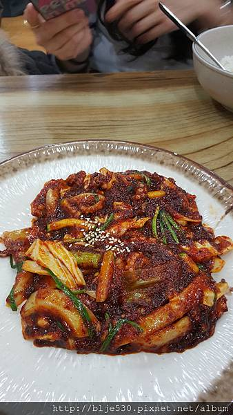 辣章魚拌飯