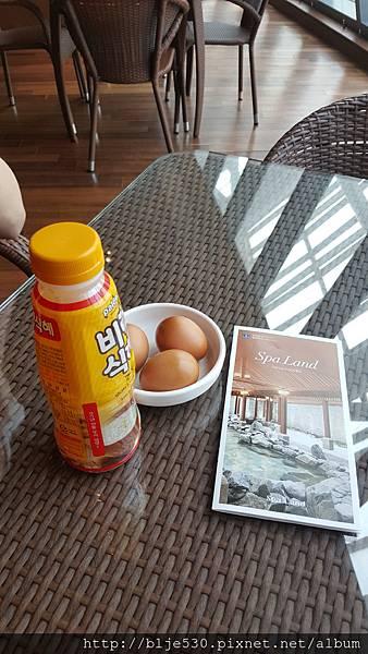 spa land內的水煮蛋&米露
