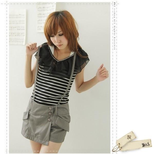 Y字吊帶側扣造型短褲裙2.jpg