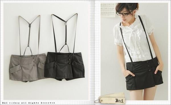 Y字吊帶側扣造型短褲裙.jpg