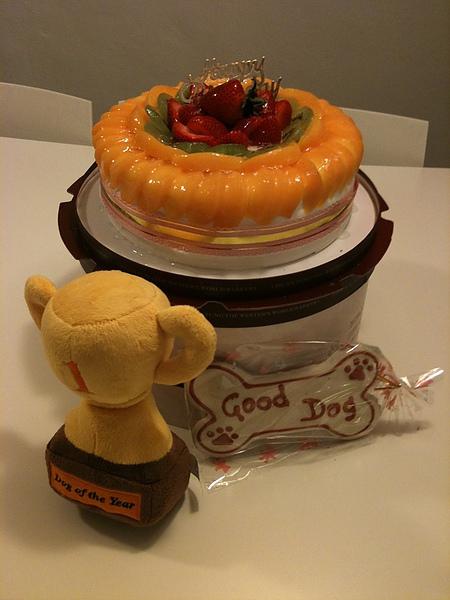 豆豆醬也有生日蛋糕.JPG