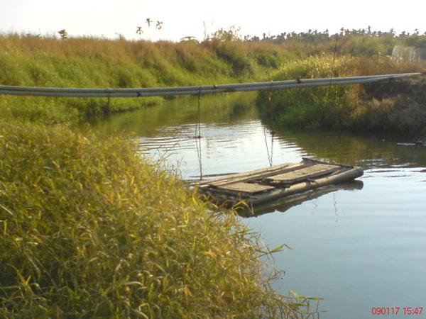 田邊的小船筏...不知道是誰家的船筏