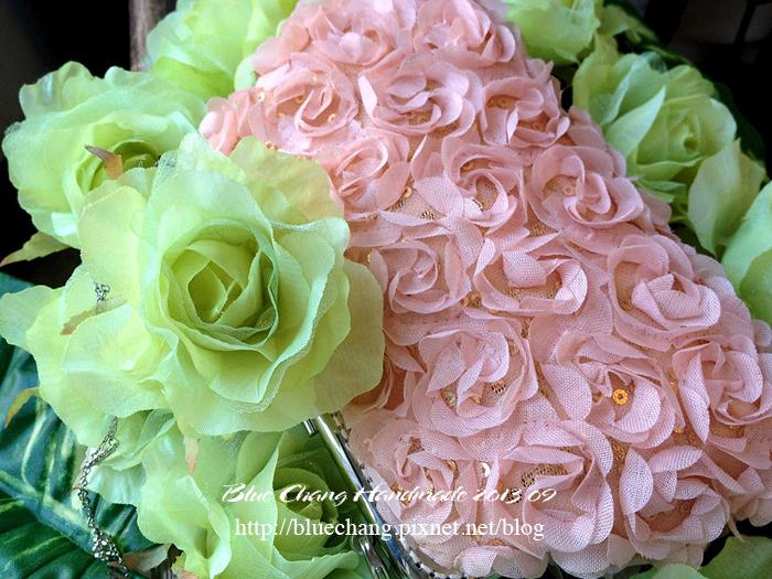 立體粉嫩玫瑰宴會包
