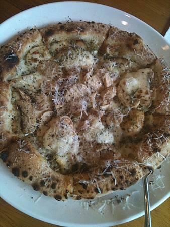 蘑菇青醬燻雞pizza