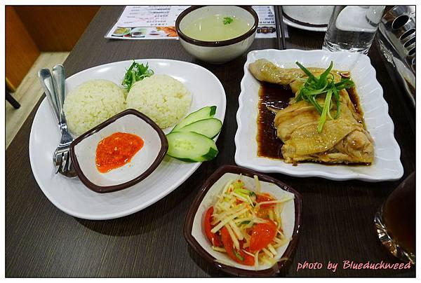 海南雞粒飯