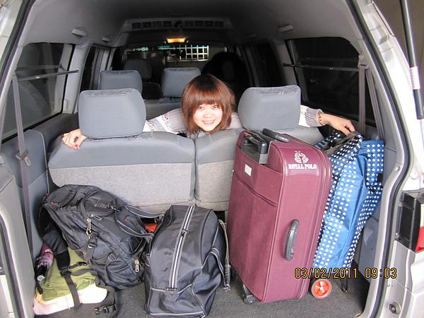 出發前,我家行李今年破天荒少