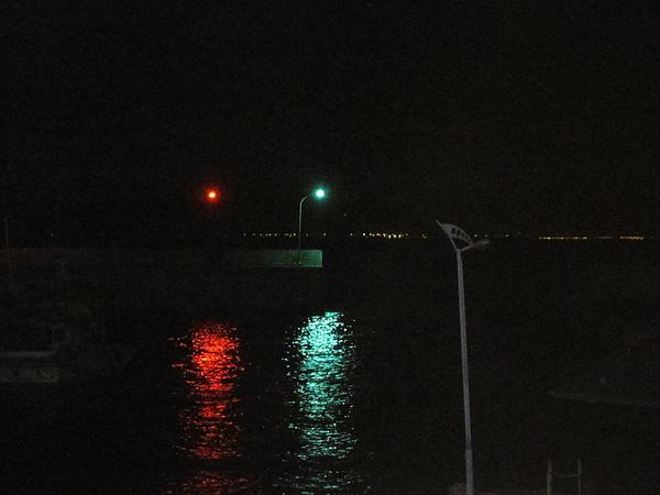 港口邊的燈