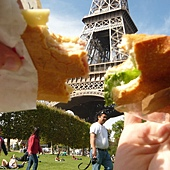 picnic under Eiffle Tower