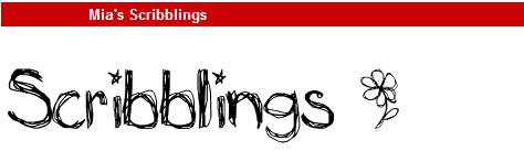 字型:Mia's Scribblings