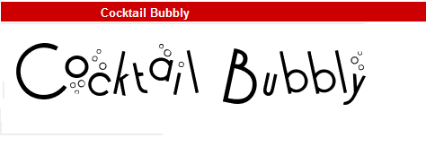 字型:Cocktail Bubbly