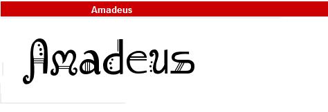 字型:Amadeus