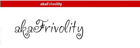 字型:akaFrivolity
