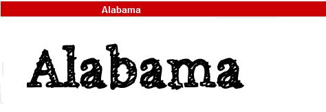 字型:Alabama