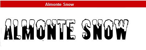 字型:Almonte Snow