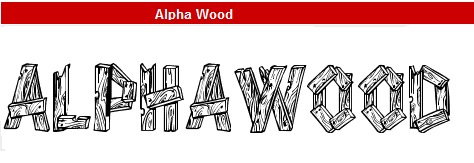 字型:Alpha Wood