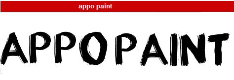 字型:appo paint