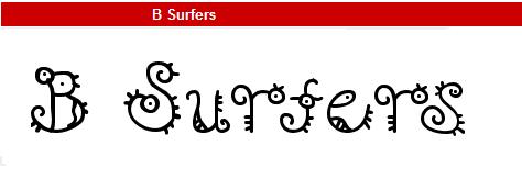字型:B Surfers