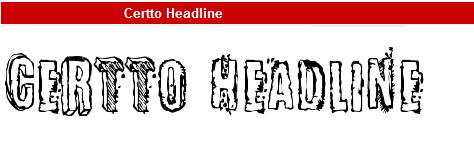 字型:<br /> Certto Headline