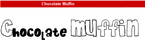 字型:Chocolate Muffin