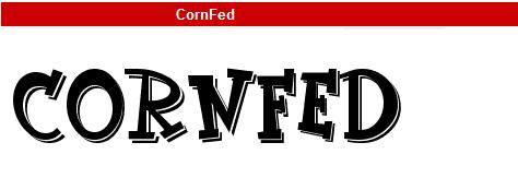 字型:CornFed