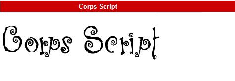 字型:Corps Script