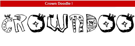 字型:Crown Doodle