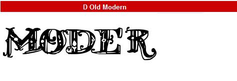 字型:D Old Modern