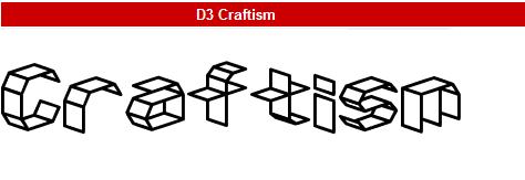 字型:D3 Craftism