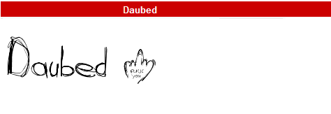 字型:Daubed