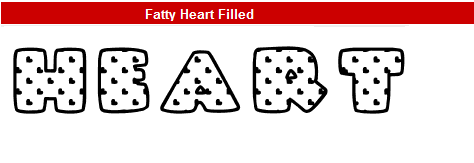 字型:Fatty Heart Filled