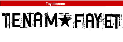 字型:Fayettenam