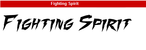 字型:Fighting Spirit