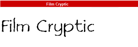 字型:Film Cryptic