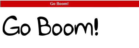 字型:Go Boom!