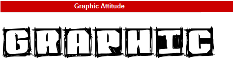 字型:Graphic Attitude