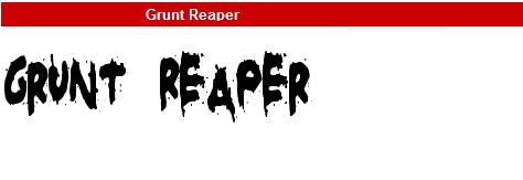 字型:Grunt Reaper