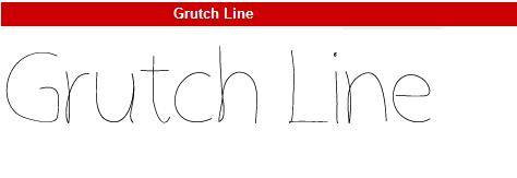 字型:Grutch Line