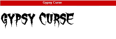 字型:Gypsy Curse