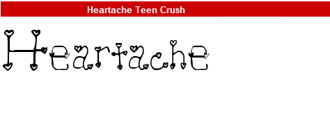 字型:Heartache Teen Crush