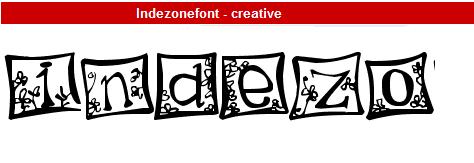字型:Indezonefont - creative